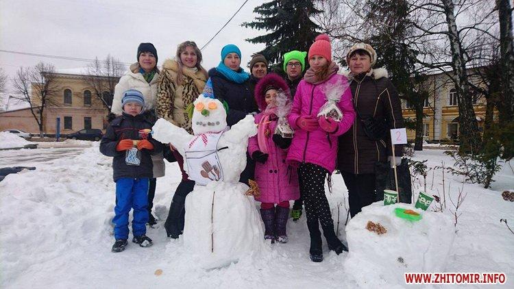 snigovichkii 2 - На майдані Корольова у Житомирі відбувся сімейний конкурс на кращого сніговика