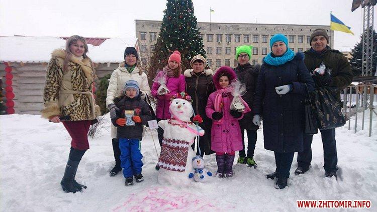 snigovichkii 3 - На майдані Корольова у Житомирі відбувся сімейний конкурс на кращого сніговика