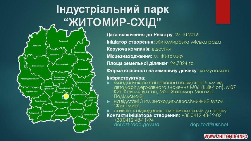 park ztest - Индустриальный парк в Житомире начнет строиться после принятия бюджета развития, - Сергей Сухомлин