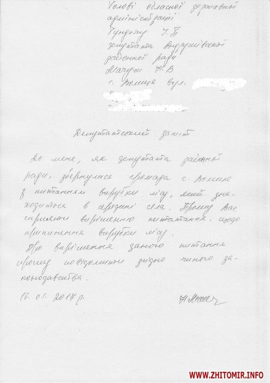 vurybka lisy - У селі Житомирської області вирізають ліс на території колишнього маєтку Терещенків, у сільраді кажуть – санітарна вирубка