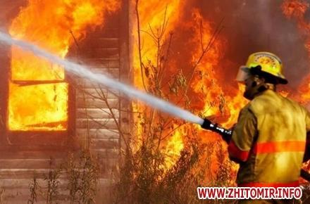 2017 01 17pozhar20170117 1 w440 h290 - У Житомирській області на пожежі знайшли тіло дідуся, який заснув і вчадів від диму