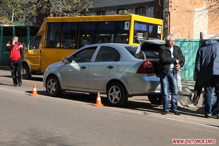 DTP boleyko 03 - На Великій Бердичівській у Житомирі не розминулися дві автівки