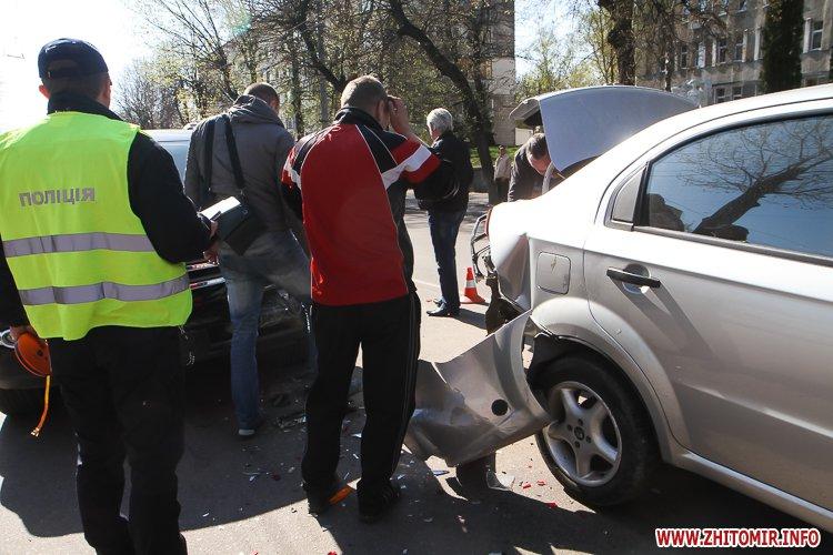 DTP boleyko 06 - На Великій Бердичівській у Житомирі не розминулися дві автівки