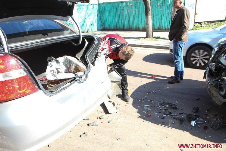 DTP boleyko 10 - На Великій Бердичівській у Житомирі не розминулися дві автівки