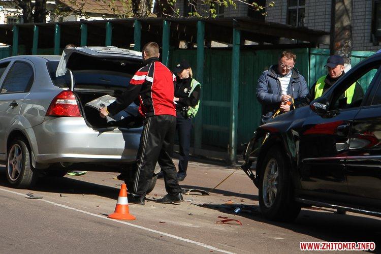 DTP boleyko 14 - На Великій Бердичівській у Житомирі не розминулися дві автівки