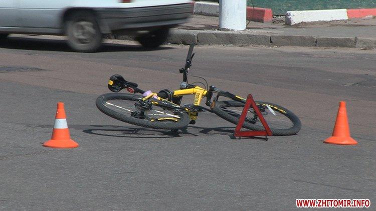 20170412 velodtp 1 - На перехресті у Житомирі Opel збив велосипедиста