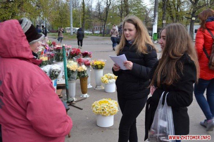 uyRicti 5 - У центрі Житомира перехожих частували цукерками за знання законодавства