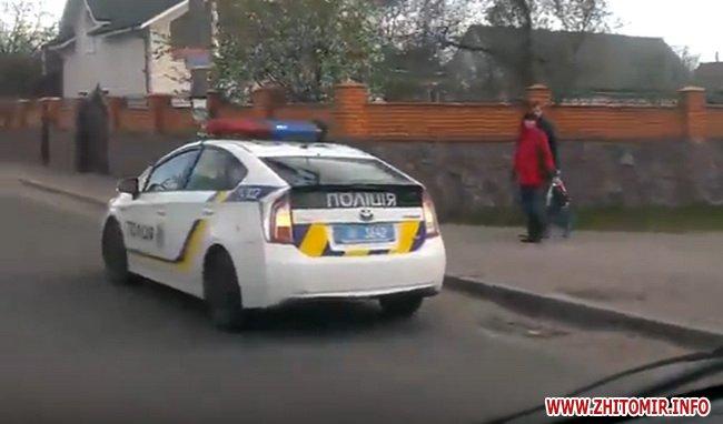 dptghak 4 - На перехресті в Житомирі зіштовхнулися Chery та Lanos: обидва авто викинуло на тротуар