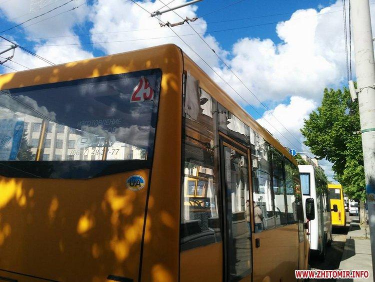 marshrytki mai 1 - Житомирський виконком, який розглядає підвищення вартості проїзду, «пікетують» 10 маршруток