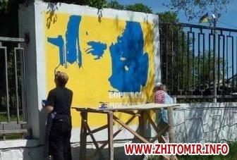 2017 05 2220170522 muralnv cover w440 h290 - На паркані військової частини у Новограді-Волинському студенти почали малювати мурал до Дня Героїв