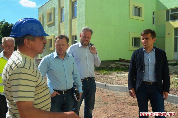 BYDivn 6 - Мер Житомира подивився, якими темпами рухається будівництво гімназії №3 та дитсадка на Крошні