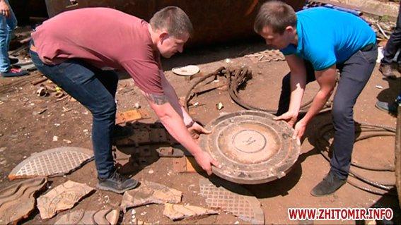 PM281image00422 - Результати обшуків у пунктах прийому металобрухту в Житомирі: дроти з кабелів зв'язку, каналізаційні люки, хрести з могил