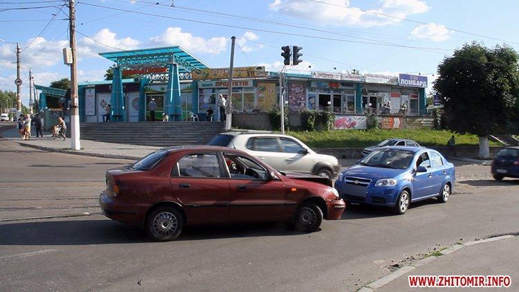 iavTo 3 - Неподалік Сінного ринку в Житомирі у ДТП потрапив автомобіль спецкомбінату, а на Корольова – два легковики