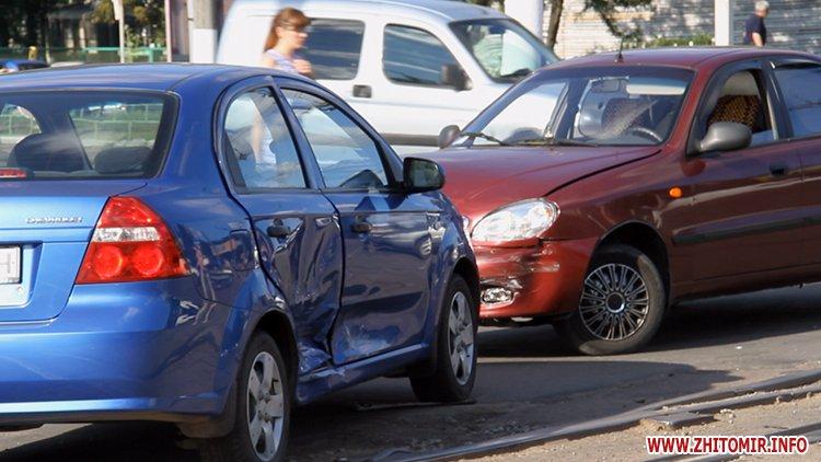iavTo 4 - Неподалік Сінного ринку в Житомирі у ДТП потрапив автомобіль спецкомбінату, а на Корольова – два легковики