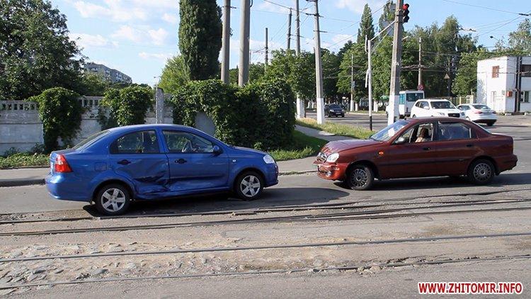 iavTo 5 - Неподалік Сінного ринку в Житомирі у ДТП потрапив автомобіль спецкомбінату, а на Корольова – два легковики