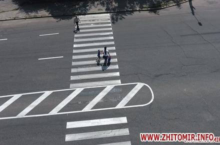2017 07 12pogRu 3 w440 h290 - У Житомирі на місці майбутніх острівців безпеки нанесли розмітку, щоб підготувати пішоходів та водіїв
