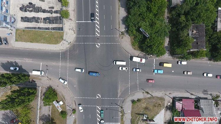 pogRu 7 - У Житомирі на місці майбутніх острівців безпеки нанесли розмітку, щоб підготувати пішоходів та водіїв