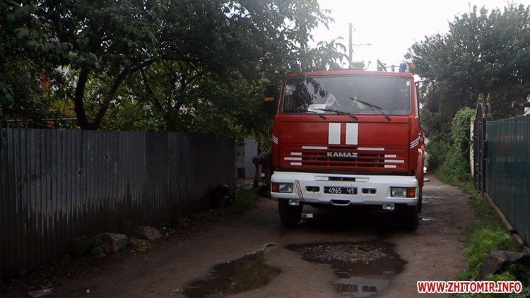 izzaMol 1 - Біля «Ліктрав» у Житомирі від удару блискавки загорівся будинок
