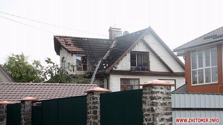izzaMol 2 - Біля «Ліктрав» у Житомирі від удару блискавки загорівся будинок