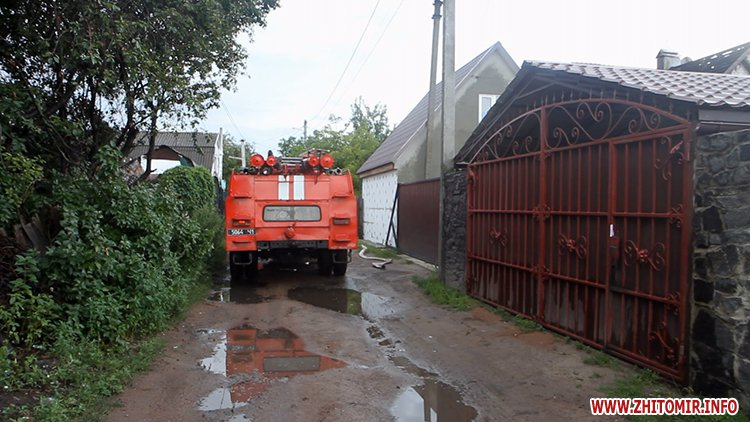 izzaMol 7 - Біля «Ліктрав» у Житомирі від удару блискавки загорівся будинок