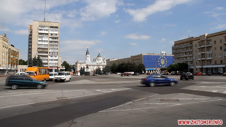 pozaYac 2 - У Житомирі з 21 липня перекриють рух на майдані Соборному – наноситимуть нову розмітку