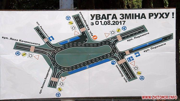 pozaYac 6 - У Житомирі з 21 липня перекриють рух на майдані Соборному – наноситимуть нову розмітку