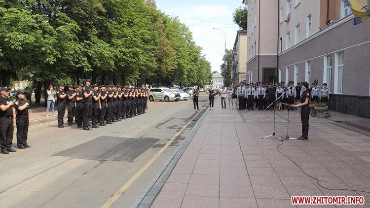 20170721 prysyaga 04 - Нові житомирські оперативники та дільничні інспектори поліції: Від нас залежить порядок в країні