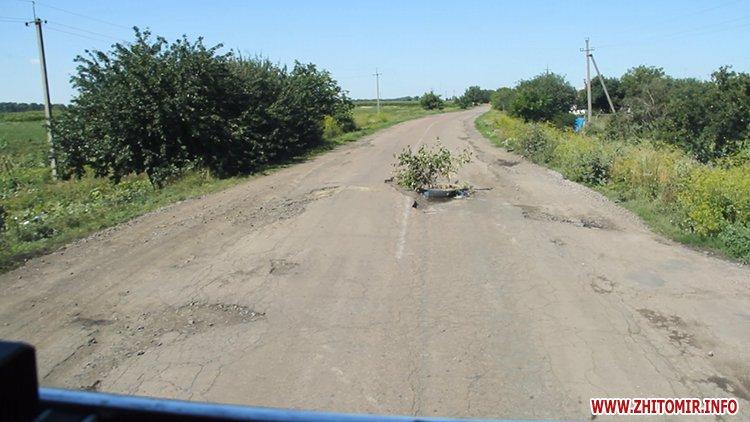 doroga popelna 1 - В Житомирській області люди вимагали ремонту «мертвої» дороги, де в ямах можна саджати дерева