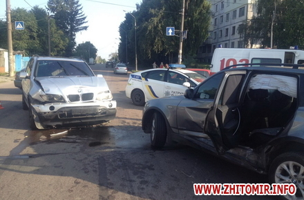 2017 08 12naDon 4 w440 h290 - Два BMW не поділили перехрестя в Житомирі, постраждала 12-річна дівчинка