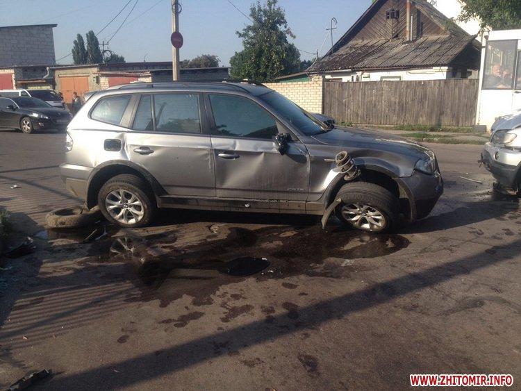 naDon 5 - Два BMW не поділили перехрестя в Житомирі, постраждала 12-річна дівчинка