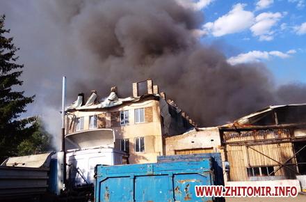 2017 08 14knca 2 w440 h290 - Через перегрівання даху в Житомирській області загорілося підприємство: гасили 19 рятувальників