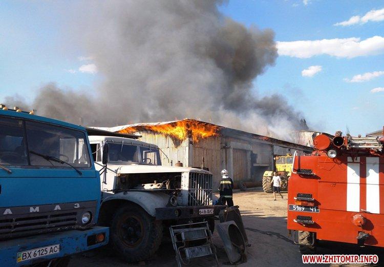 knca 1 - Через перегрівання даху в Житомирській області загорілося підприємство: гасили 19 рятувальників