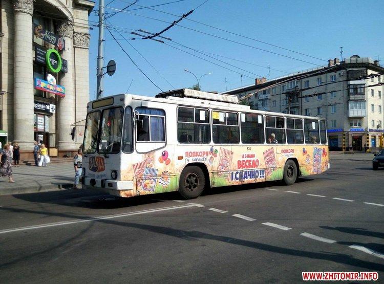 neE 1 - Трамваї й тролейбуси півгодини блокували рух у центрі Житомира