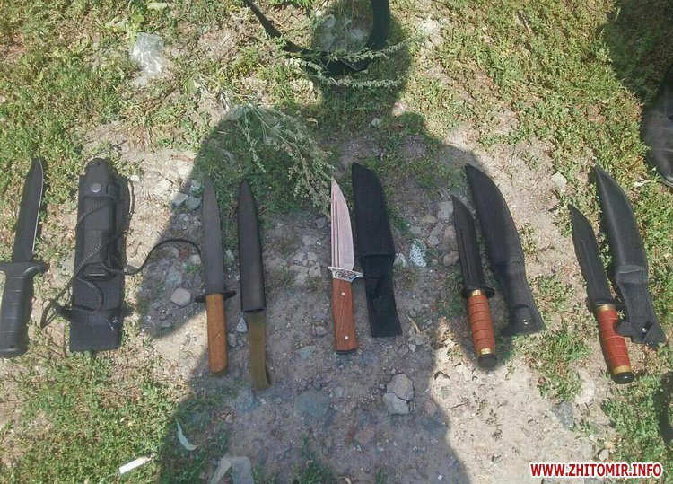 nezakonna zbroya 2 - На ринку в Житомирі поліцейські виявили у чоловіка колекцію ножів, а у жителя Радомишльського району - гвинтівку