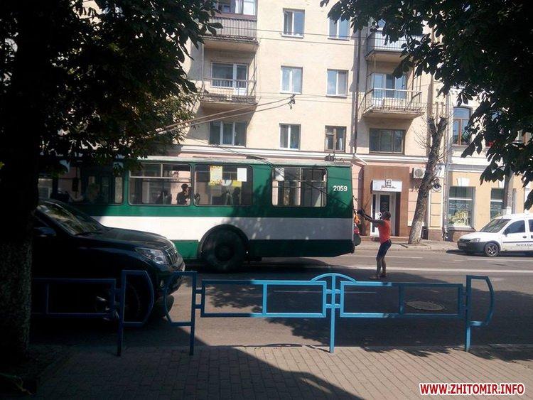 muDSj 3 - Тролейбуси об'їжджали ДТП біля магазину «Природа» в Житомирі