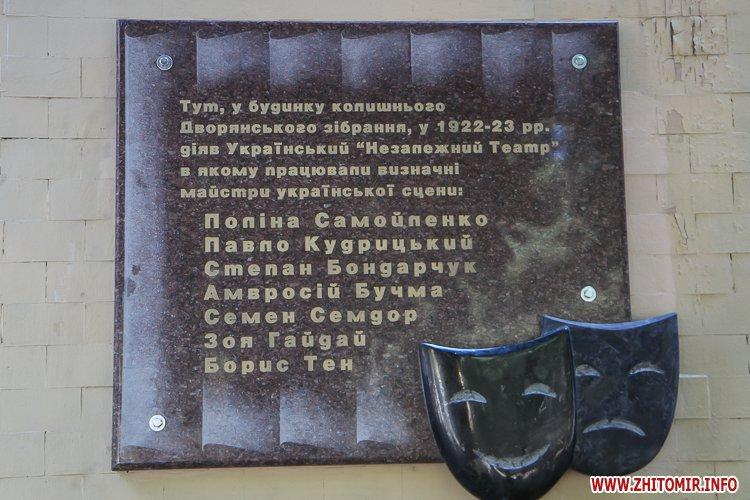 djOsa 19 - Як у Житомирі відкривали дошку Першому Незалежному українському театру