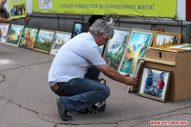 kniga miry 20 - На майдан Корольова у Житомирі привезли Картину Миру, яку малювали 10 тисяч українців