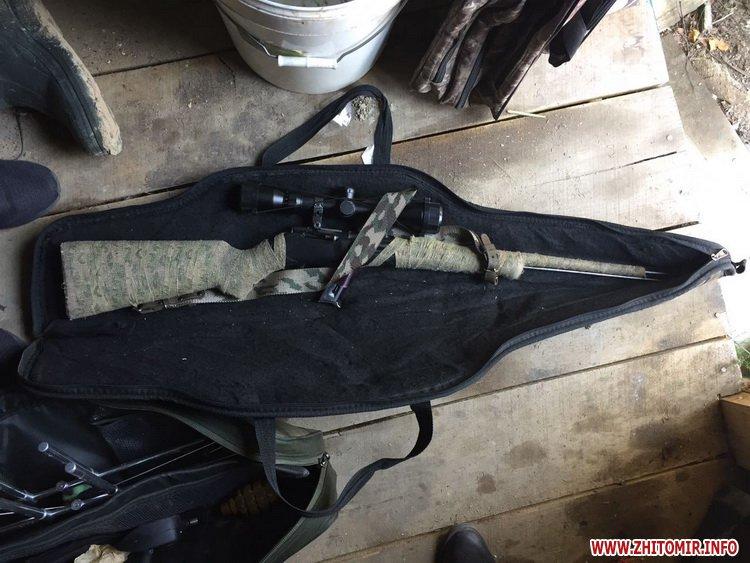 boePrt 4 - Поліція обшукала мисливський будинок у передмісті Житомира, знайшла зброю та боєприпаси