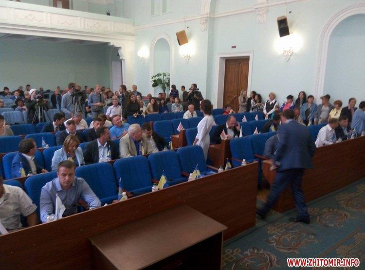 Ses pochat 5 - «Батьківщина» проігнорувала позачергову сесію Житомирської міської ради