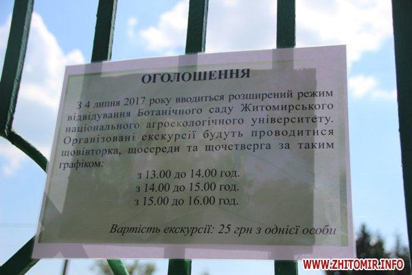 IMG 5863 - Житомирський університет вирішив пускати відвідувачів у ботанічний сад, але лише три дні на тиждень і по три години