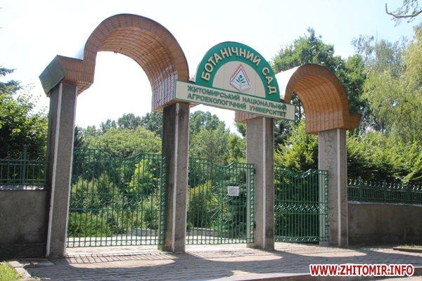 IMG 5864 - Житомирський університет вирішив пускати відвідувачів у ботанічний сад, але лише три дні на тиждень і по три години