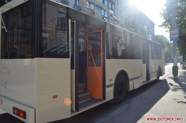 z mis 2 - Житомирське ТТУ випустило на лінію оновлений тролейбус вартістю близько мільйона гривень