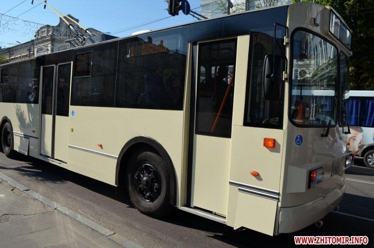 z mis 3 - Житомирське ТТУ випустило на лінію оновлений тролейбус вартістю близько мільйона гривень
