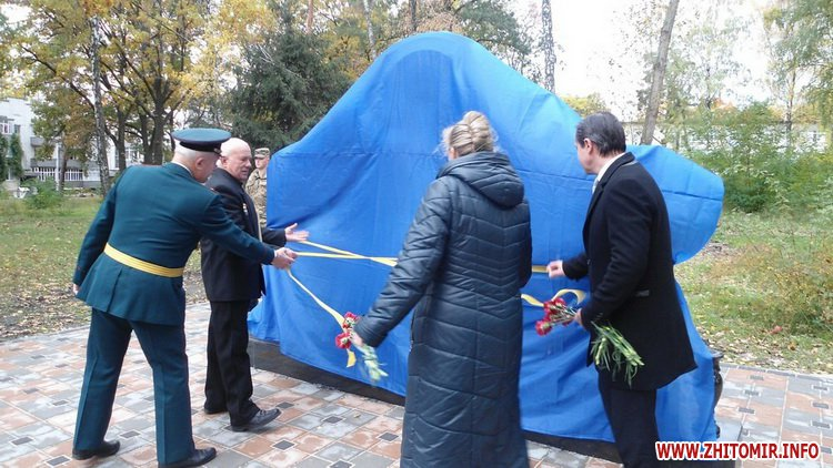 Chorn ato 3 - У селищі поблизу Житомира відкрили пам'ятник ліквідаторам на ЧАЕС, а в Чуднівському районі – меморіальну дошку АТОшнику