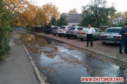 2017 10 18techevoda F 4 w440 h290 - У Житомирі через порив на Князів Острозьких декілька будинків залишаться без води