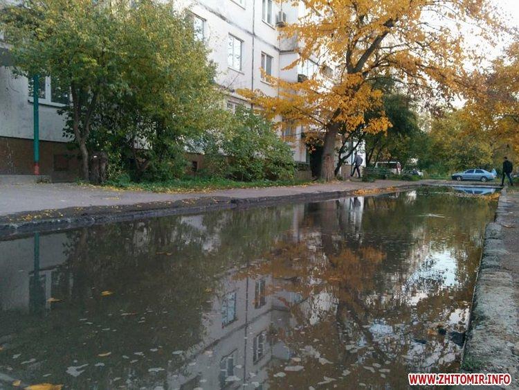 techevoda F 1 - У Житомирі через порив на Князів Острозьких декілька будинків залишаться без води