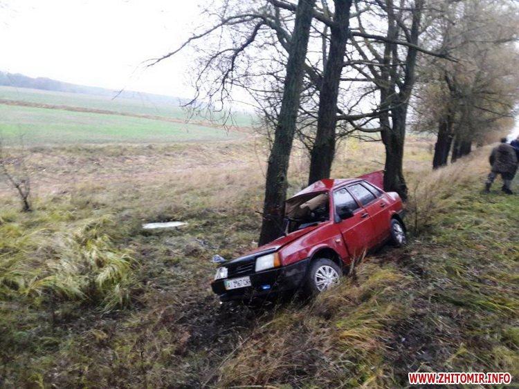 dtpemilchyno465465 1 - У Житомирській області рятувальники витягали «Ладу» з кювету, водій та пасажирка у лікарні