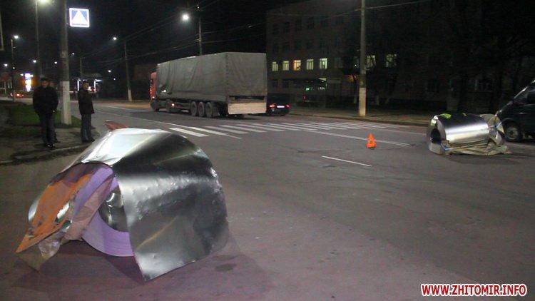 Rylon metal 2 - У Житомирі під час руху з вантажівки випали три рулони металу