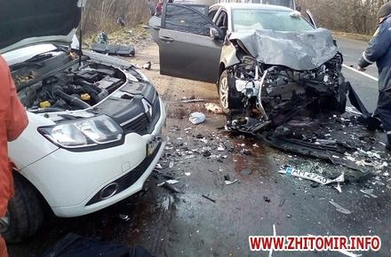 36e4161f012a0c60cd83e97e7962d35e w440 h290 - У Бердичівському районі в результаті зіткнення Toyota і Renault загинули двоє людей