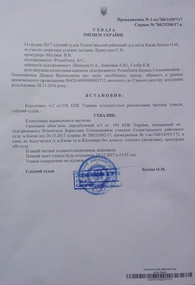 5a4017abb0649 - Суд дозволив нардепу Розенблату без дозволу виїжджати з Києва та Житомира, але браслет не зняв